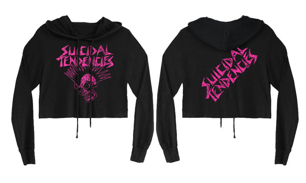 Suicidal Tendencies Girls Cropped Sweatshirt