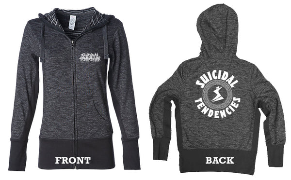 Suicidal Tendencies Girl Zip Up Sweatshirt Cyclone
