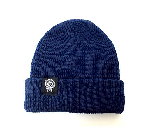 DogTown Cross Logo Woven Beanie + Sticker