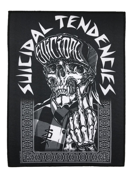SUICIDAL TENDENCIES 1F ONE FINGER BACK PATCH
