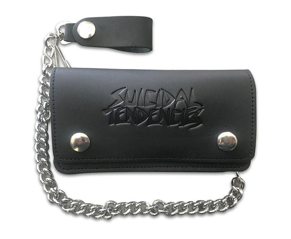 ST Leather Chain Wallet + Sticker