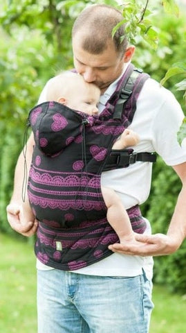Lenny Lamb Ergonomic Carrier Romantic Lace Reverse Toddler Size