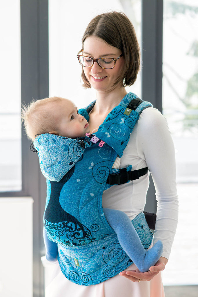 LennyLamb Ergonomic Carrier, Baby Size, BLUE PRINCESS, Second Generation