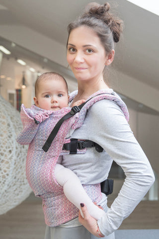 LennyLamb Ergonomic Carrier, Baby Size, LITTLE LOVE HAZE, Second Generation