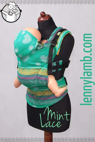 Lenny Lamb Ergonomic Carrier Mint Lace