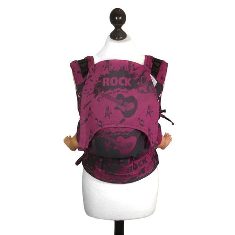 Fidella Fusion babycarrier with buckles -Rock n Rolla pink splash (babysize)