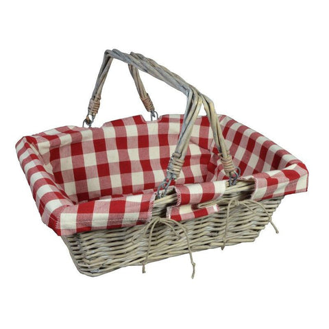 Panier 2 Anses Mobiles 38X28 H13 Coll. Campagne Rouge