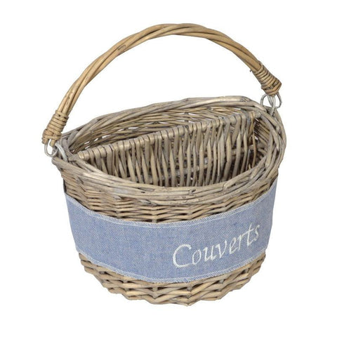 "Panier 2 Compartiments ""Couverts"" D15 H24 Coll. Jersey"