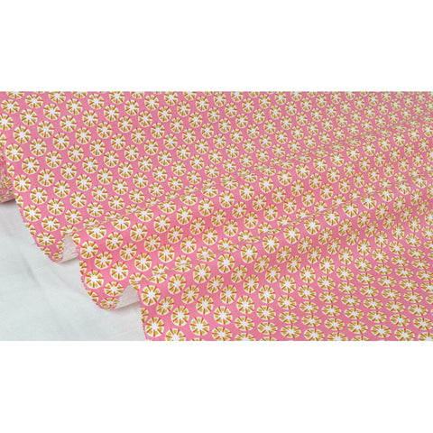 "Coupon De 10Cm De Tissu Patchwork Rose/Orange ""Motif F"" Laize 160 (100% Coton)"