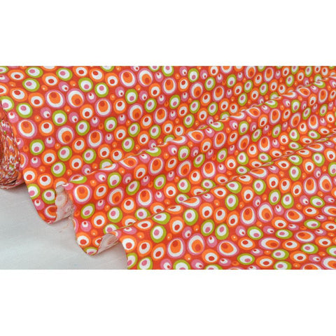 "Coupon De 10Cm De Tissu Patchwork Rose/Orange ""Motif D"" Laize 160 (100% Coton)"