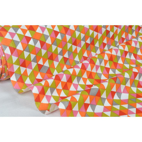 "Coupon De 10Cm De Tissu Patchwork Rose/Orange ""Motif E"" Laize 160 (100% Coton)"