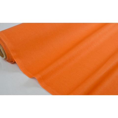 "Coupon De 10Cm De Tissu ""Imprime Uni"" Coloris Orange Laize 160 (100% Coton)"