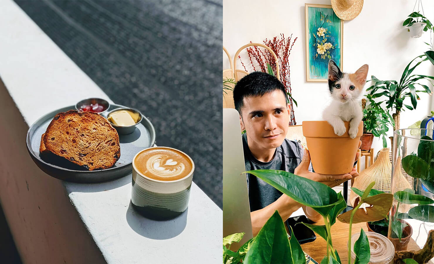 bloomthis-5-plant-flower-cafes-you-have-to-visit-03-planterchin-coffee-art-cat-in-cafe