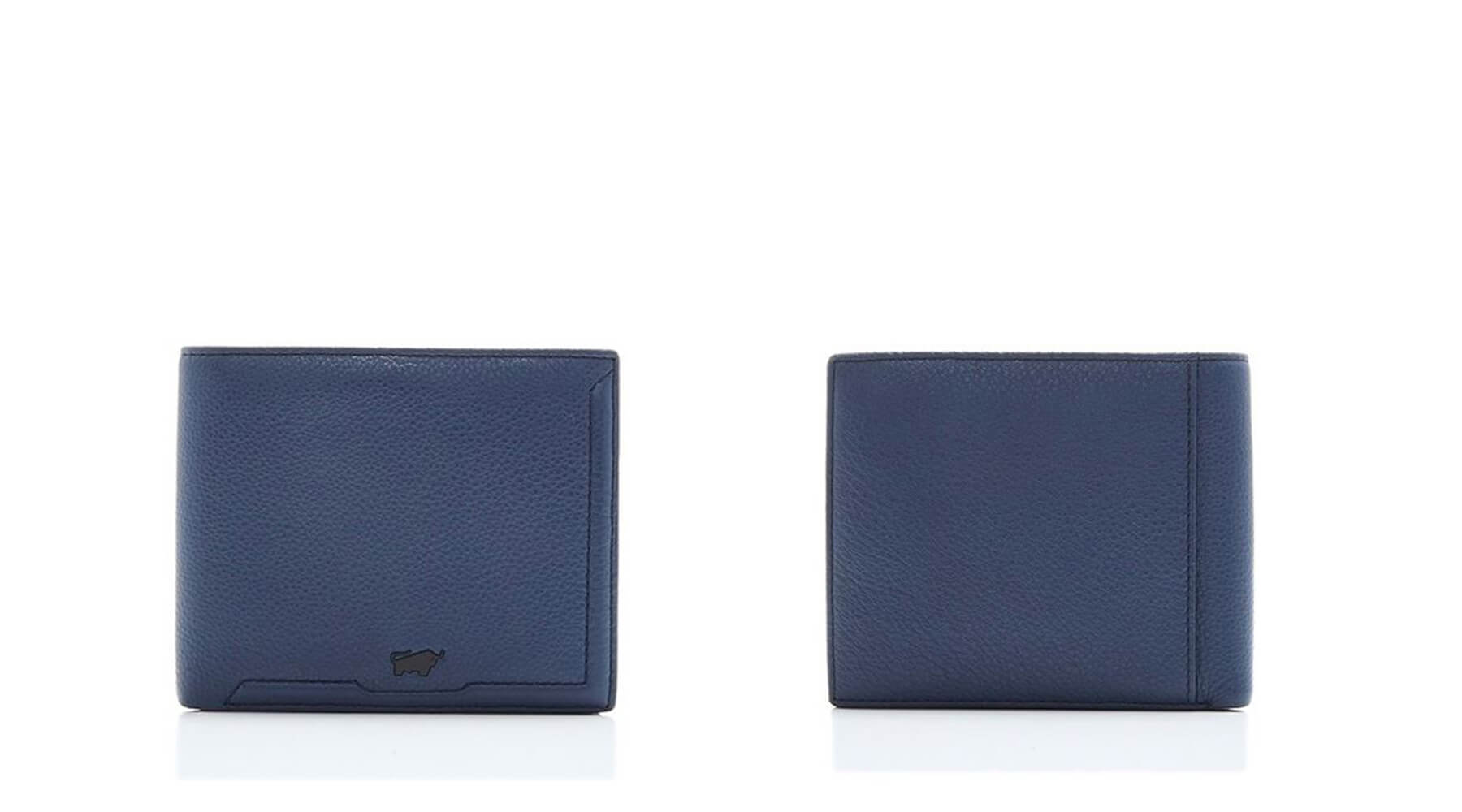 Braun Buffel Jimmy Flap-Up Wallet With Coin Compartment In Ocean
