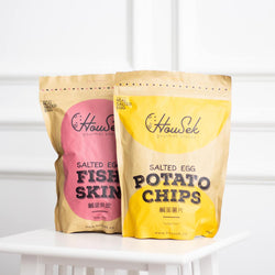 HouSek Golden Salted Fish Skin & Potato Chips Combo (2x 125 g)