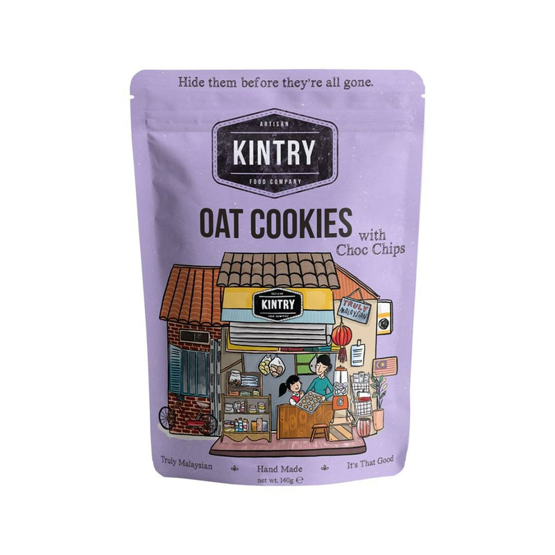Kintry Oat Cookies with Choc Chips (140 g)