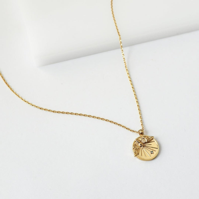 Wanderlust & Co Petite Bee Gold Necklace