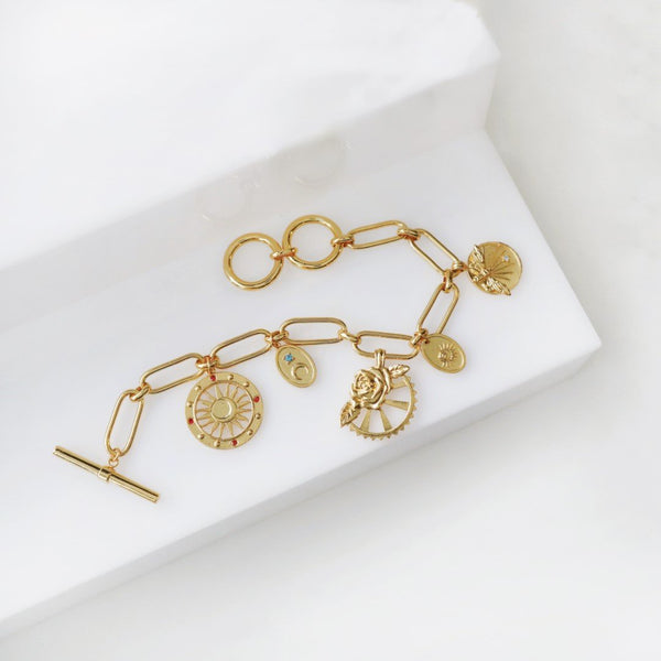 Wanderlust + Co Reverie Gold Toggle Bracelet