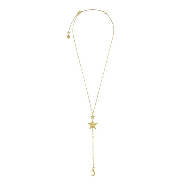 Wanderlust + Co Stella Gold Lariat Necklace