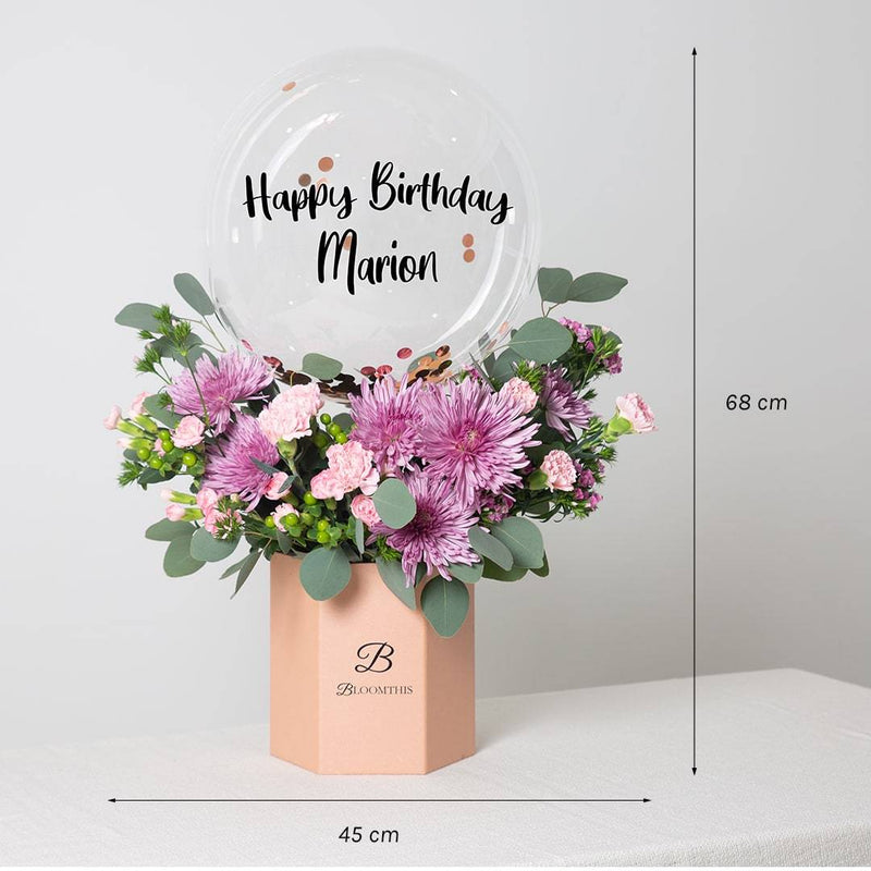 Evana Balloon Flower Box