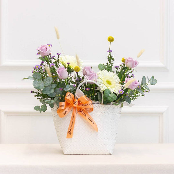 Edith Gerbera & Rose Flower Basket (MDV)