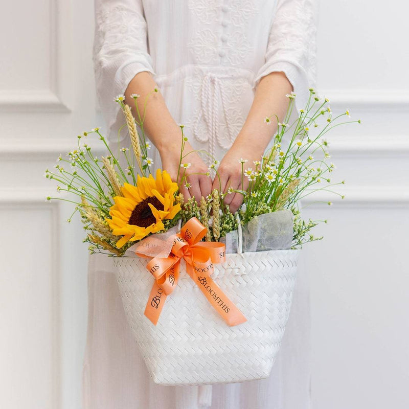 Harriet Sunflower & Daisy Flower Basket (MDV)
