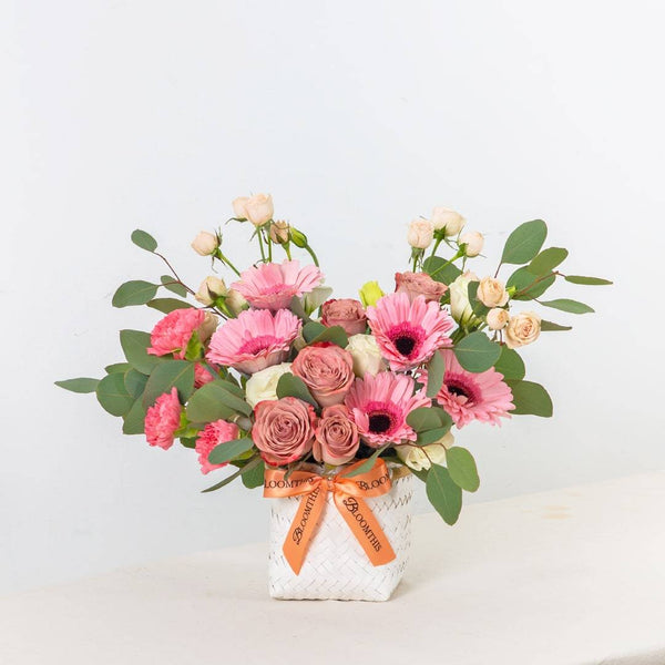 Reese Gerbera & Rose Flower Basket