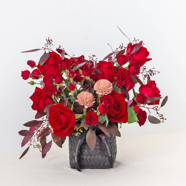 Tara Red Rose Flower Basket
