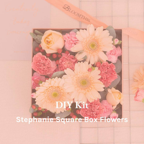 Stephanie Square Box Flowers DIY Kit