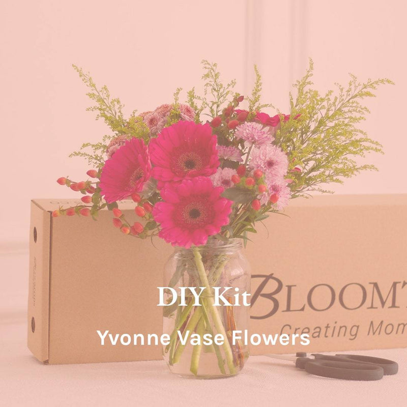 Yvonne Vase Flowers DIY Kit
