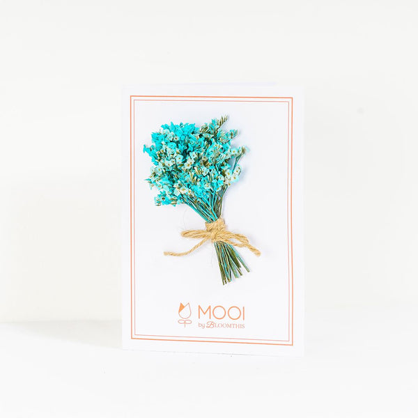 Dried Blue Tinted Caspia Designer Card