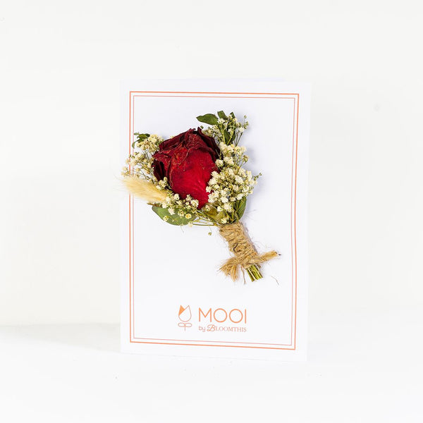 Dried Rose Designer Card