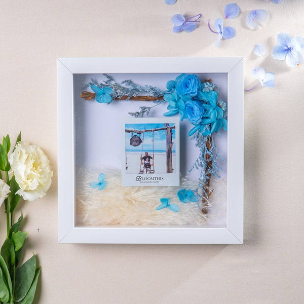 Adore A Wish For You Photo & Flower Frame