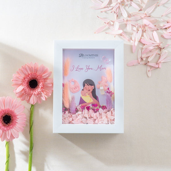 Mom and Baby Dried Flower Frame (MDV)