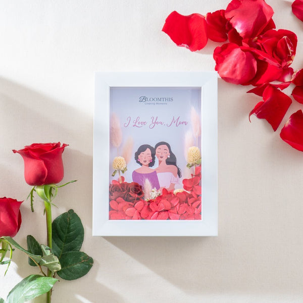 Mom and Daughter Dried Flower Frame (MDV)