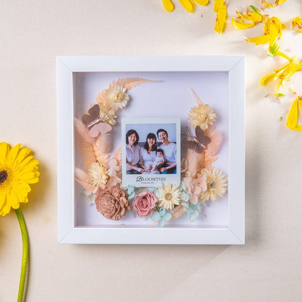 Love Moment In Time Photo & Flower Frame