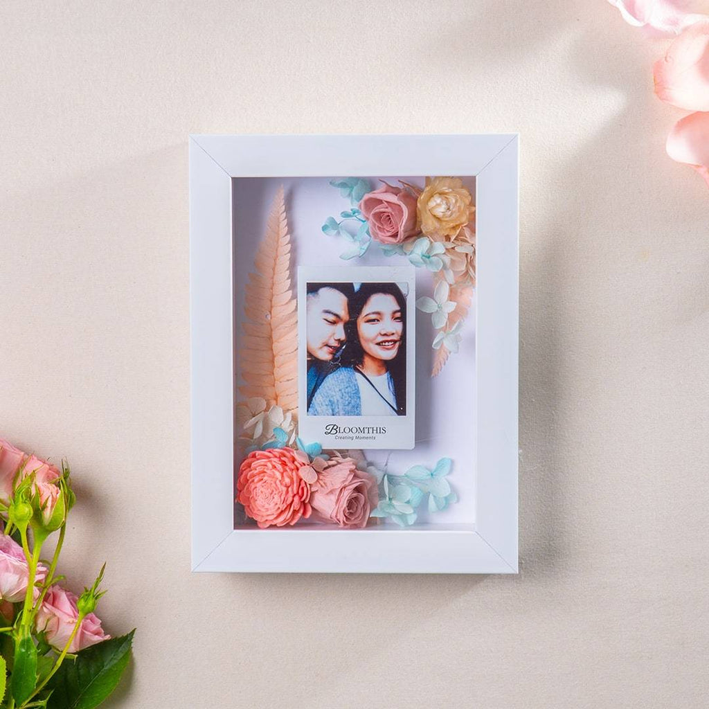 Love You And Me Photo & Flower Frame