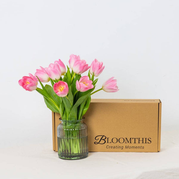 Hyacinth Pink Tulip Flower Long Box