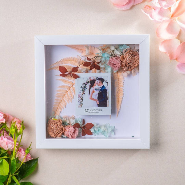 Adore Love Sonnet Photo & Flower Frame