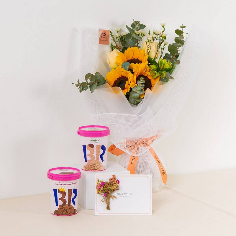 Baskin-Robbins White Bouquet Set
