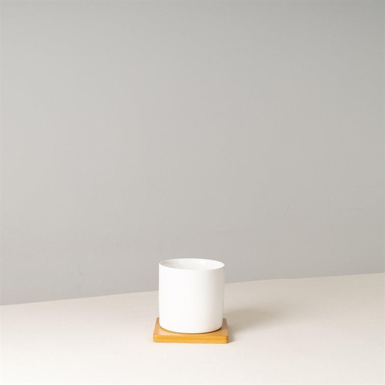 JANEB White Ceramic Pot 8.5 cm (D)