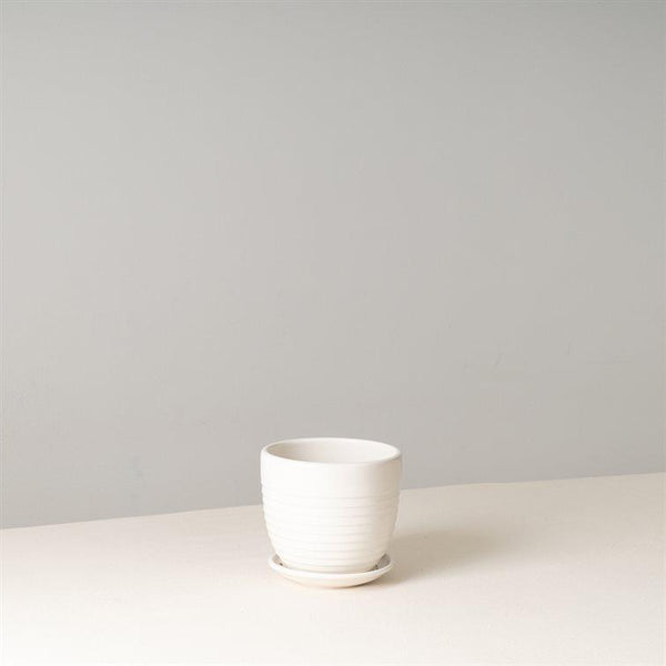 NOR White Ceramic Pot 11 cm (D)