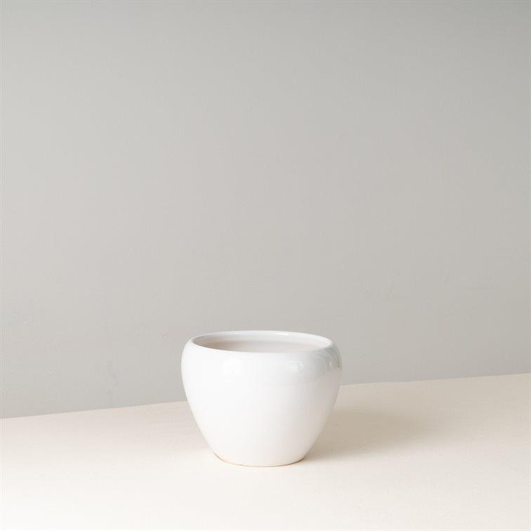 SLEE White Ceramic Pot 14 cm (D)
