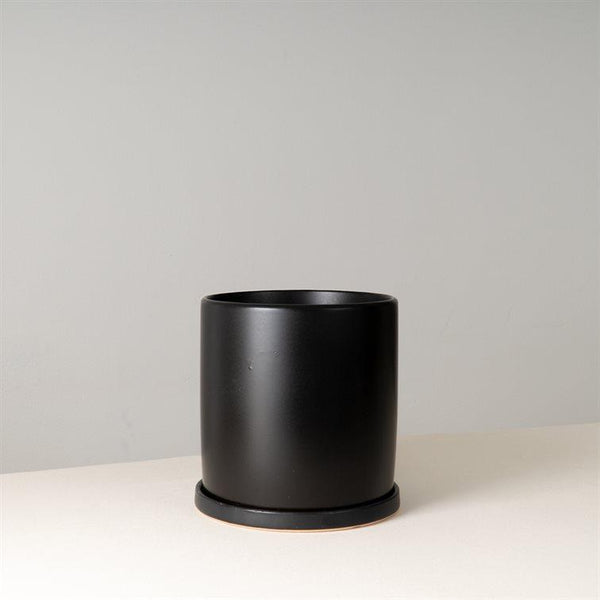 TEREN Black Ceramic Pot 18 cm (D)
