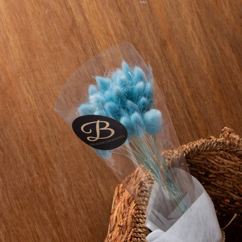 Rustic Blue Bunny Tail