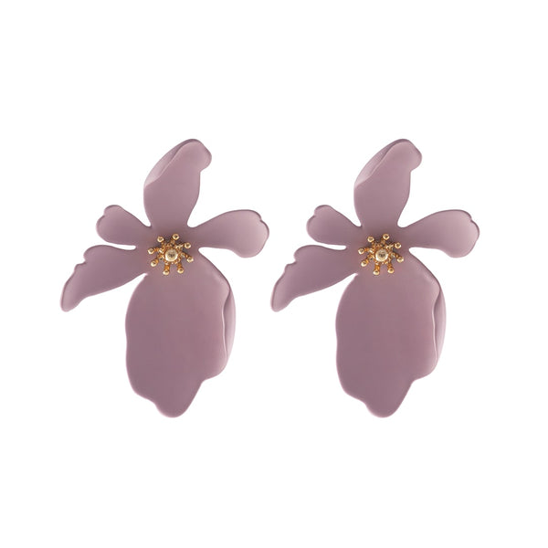 W+co Camilla Mauve Earrings