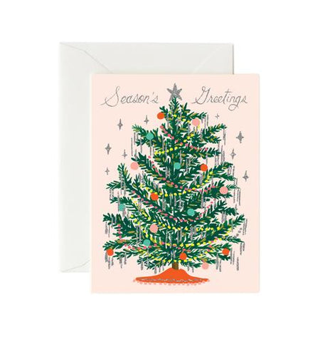 Christmas card - Tinsel Tree