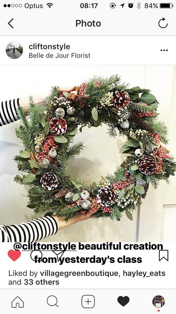 Wreaths making
