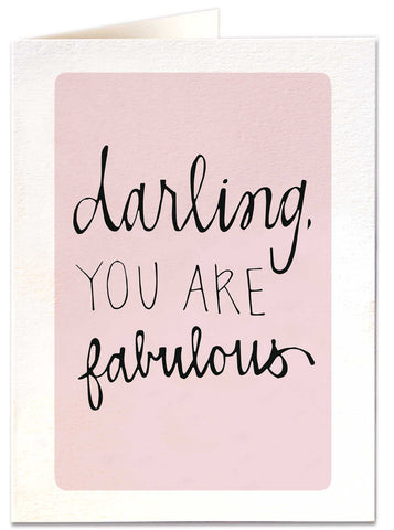 Darling you are Fabulous!
