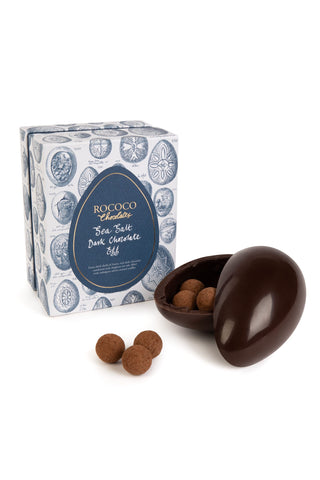 Sea Salt Chocolate Egg - Milk or Dark Chocolate